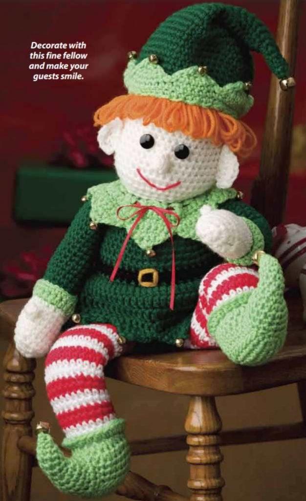 Christmas Crochet Patterns Free PDF elf