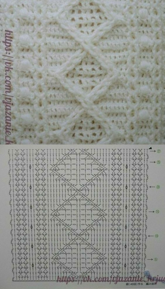 Crochet Cables Pattern Diagrams and Inspiration
