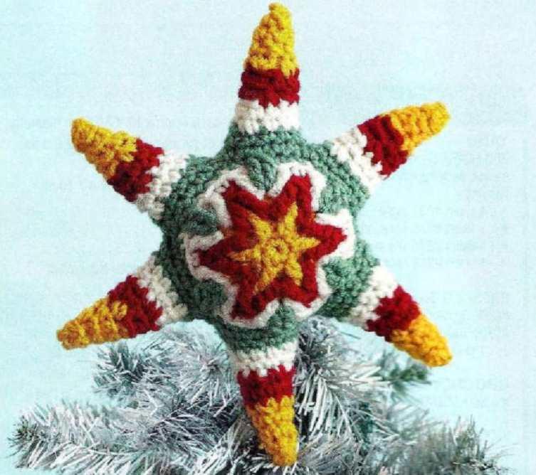 Crochet Christmas star topper pattern