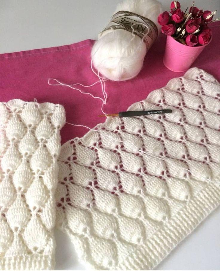 Crochet teary diamond stitch