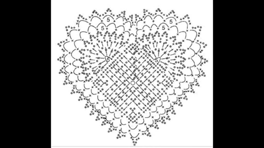 Free Crochet Diagram Motifs for Hearts