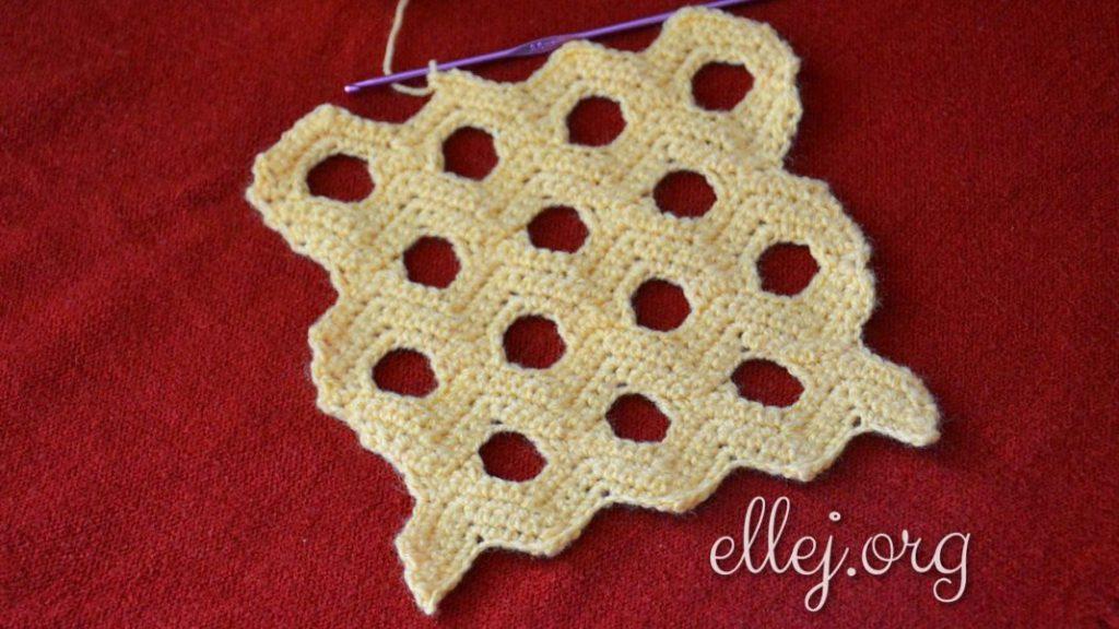Honeycomb holes crochet diagram pattern