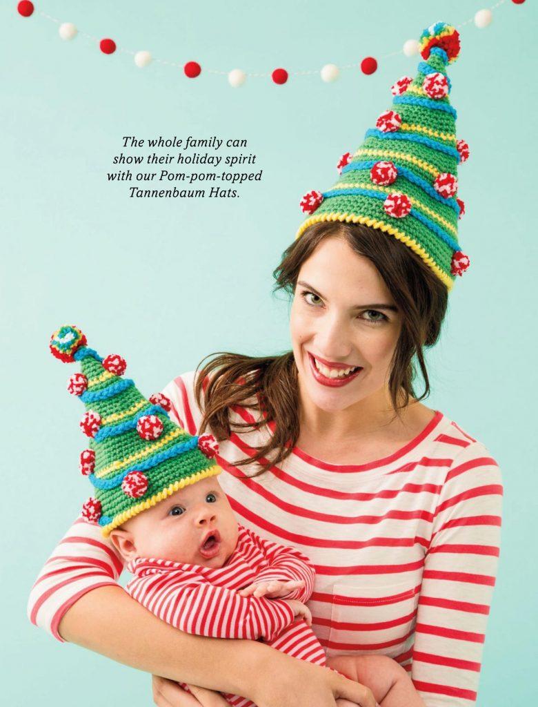 Pom pom topped Christmas hat