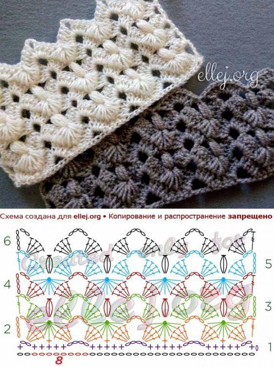 Pretty fans crochet stitch