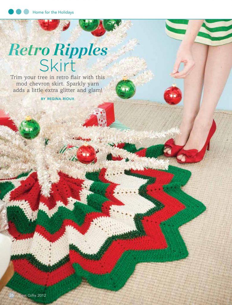 crochet ripple stitch tree skirt pattern
