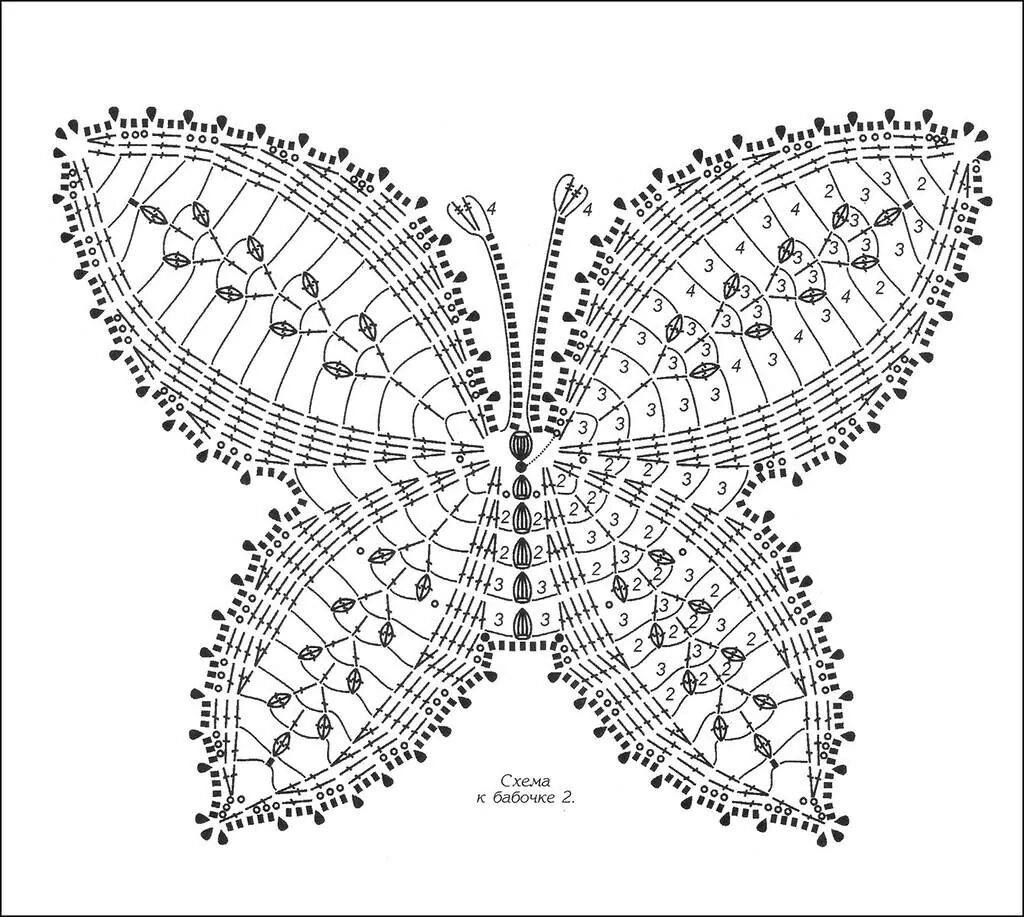 Crochet Butterfly Diagrams and Inspiration