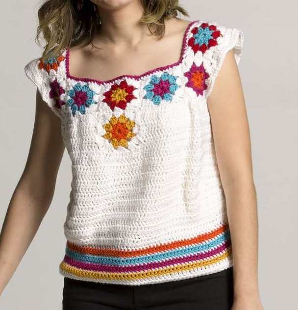 free crochet pattern for a blouse