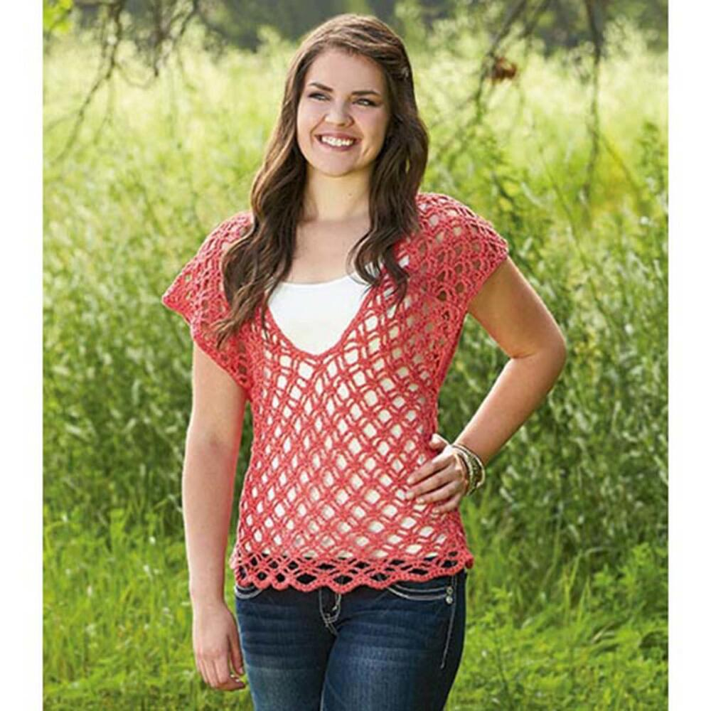 Free crochet pattern for a lace top