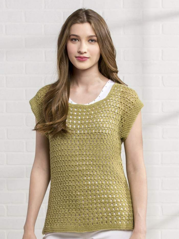 Free crochet pattern for a mesh tee