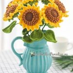 Free crochet sunflower diagram pattern