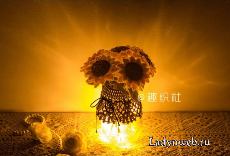 Free crochet sunflower diagram pattern