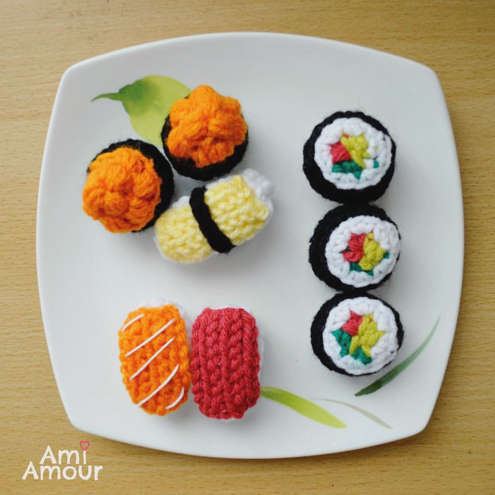 Free Food Amigurumi Crochet Pattern for Sushi
