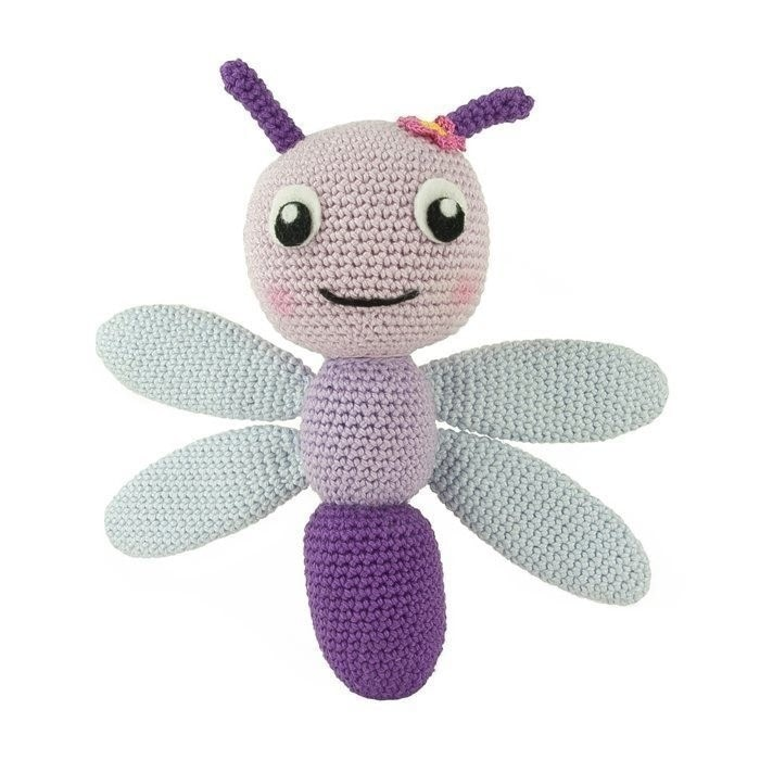Free crochet pattern for a dragonfly