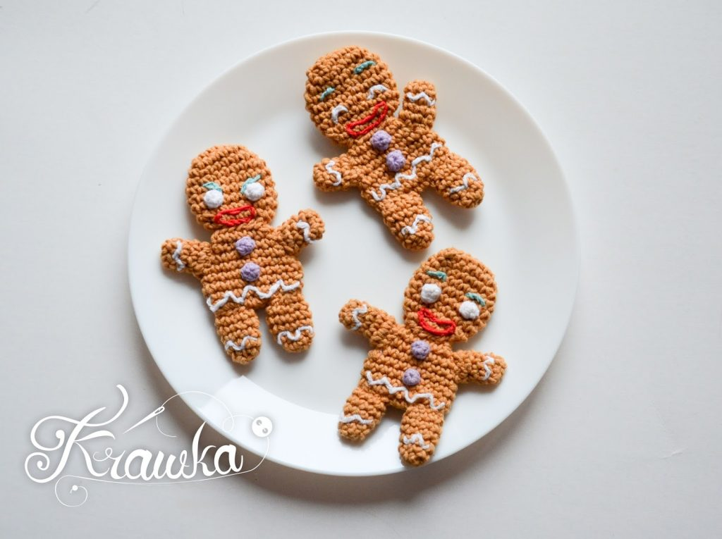 Gingy the Gingerbread man Free Crochet Pattern