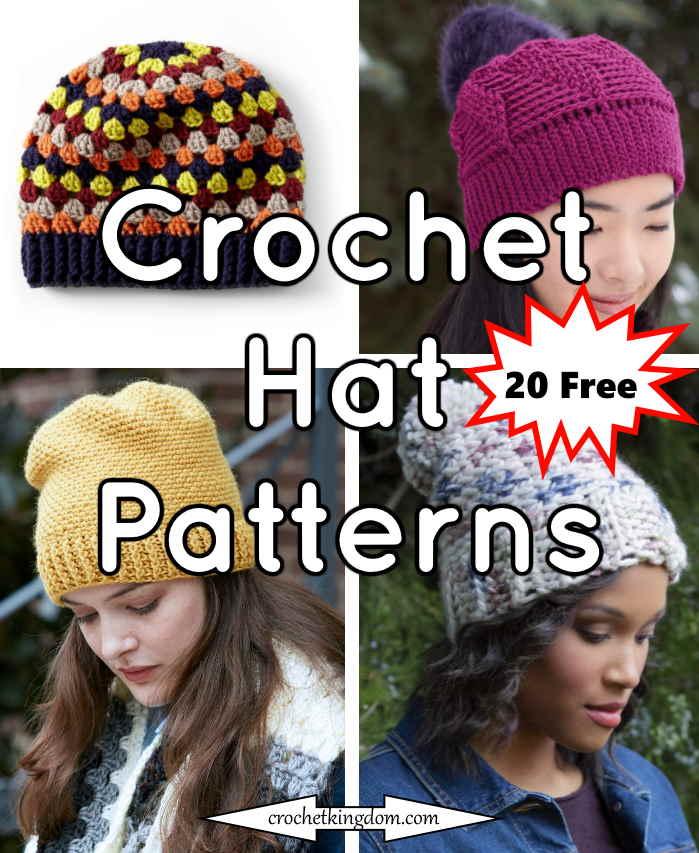 20 Free Crochet Hat Patterns