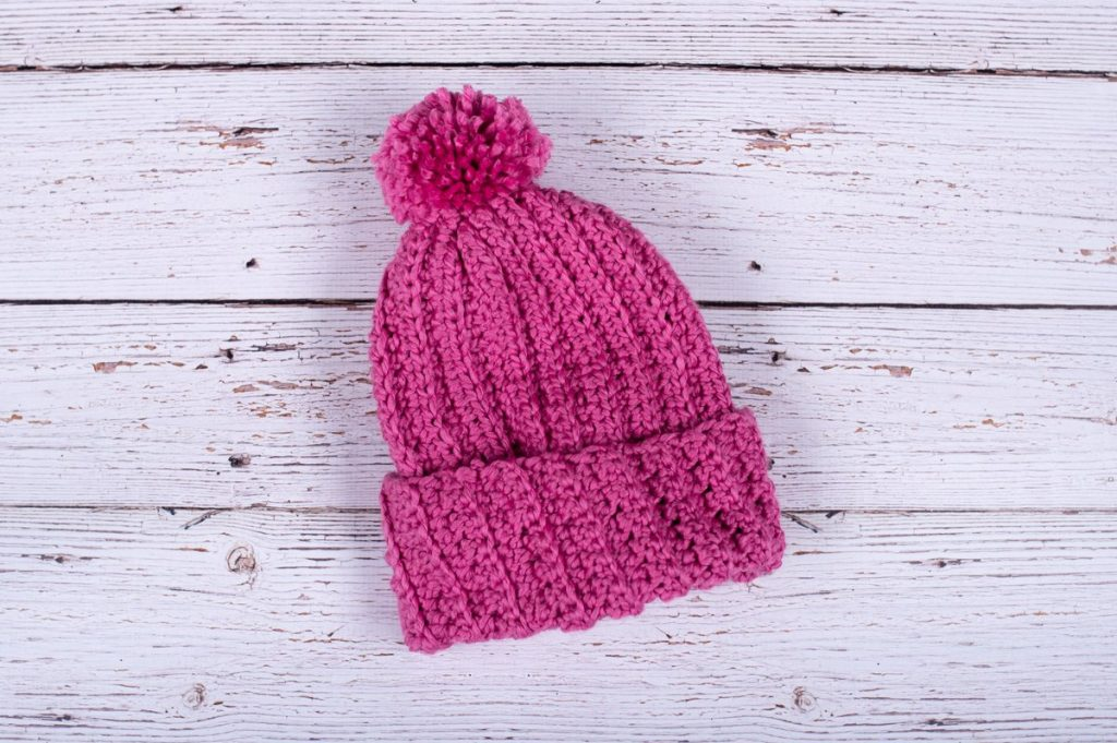 Free beginner crochet pattern for a hat
