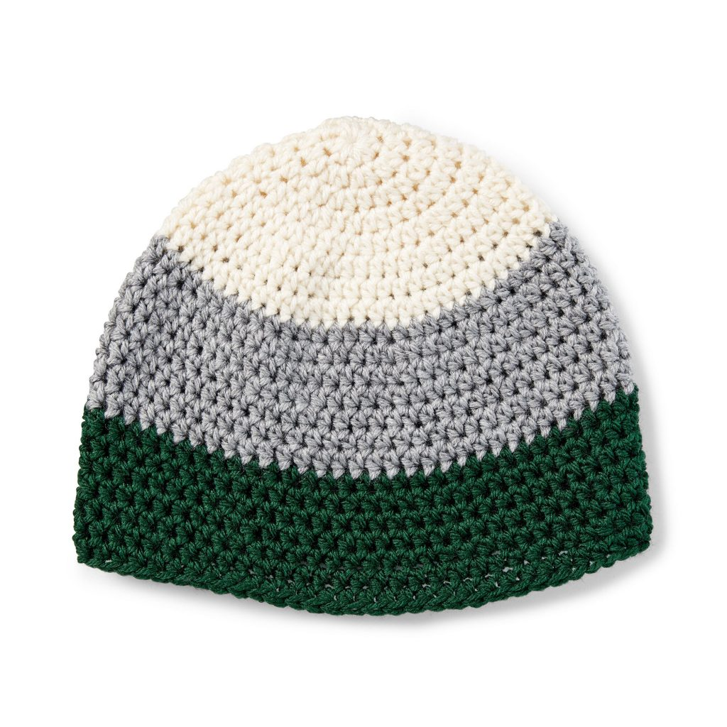 Free crochet pattern for a simple hat beanie