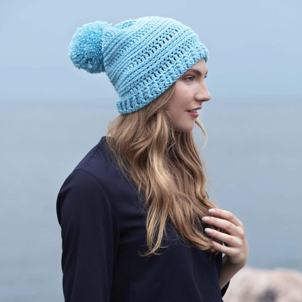 Free crochet pattern for a textured slouchy hat