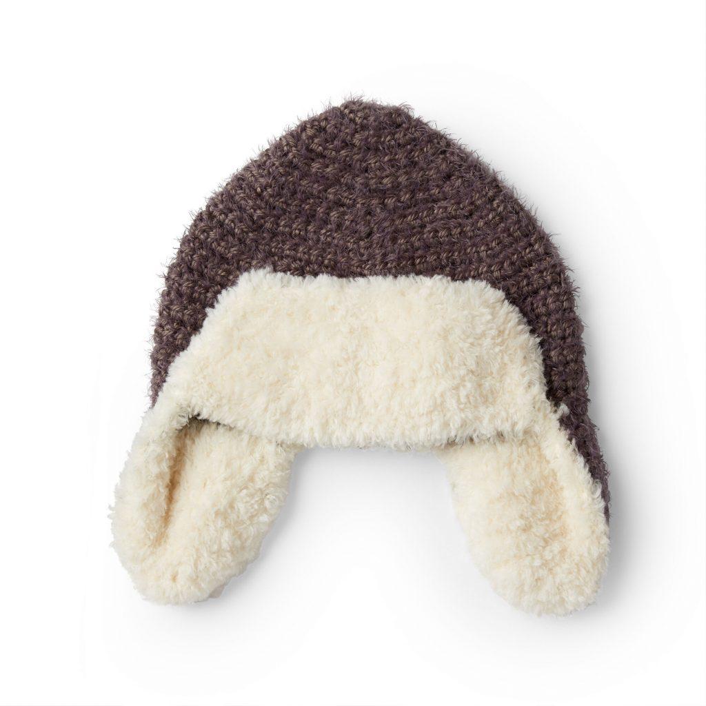 Free crochet pattern for an aviator hat