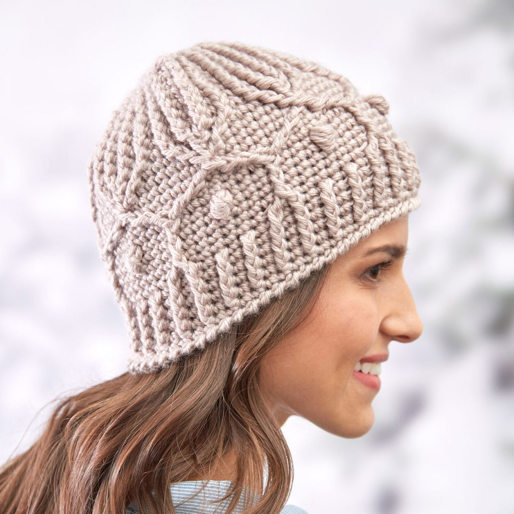 crochet hat pattern trellis free