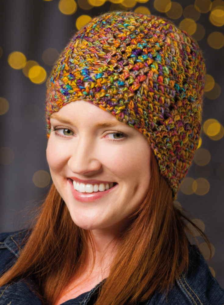 waves hat free crochet pattern