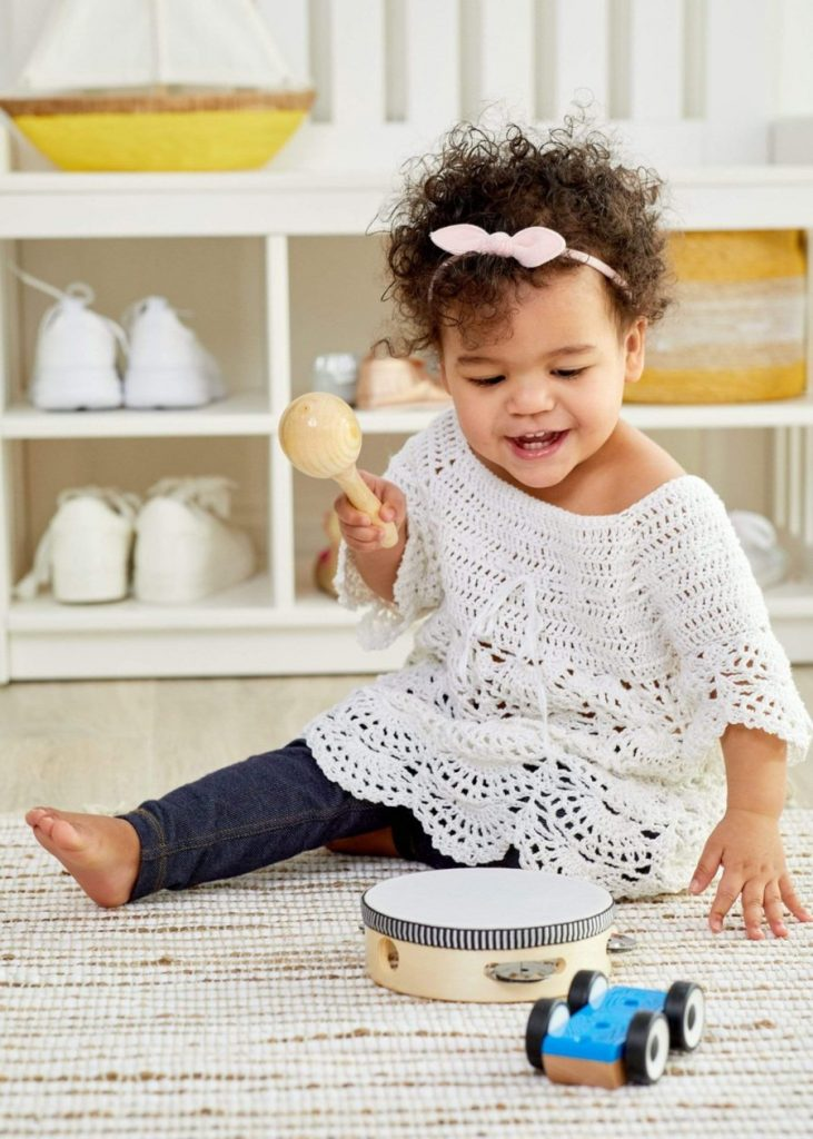 Free Crochet Pattern for a Boho Baby Lace Dress