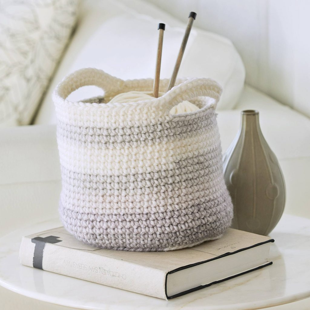 Free Crochet Pattern for a Bulky Yarn Basket