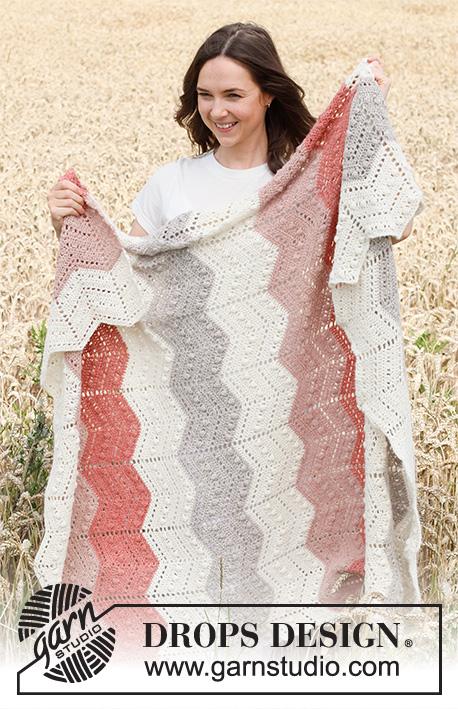 Free-Crochet-Pattern-for-a-Chevron-Bobble-Blanket