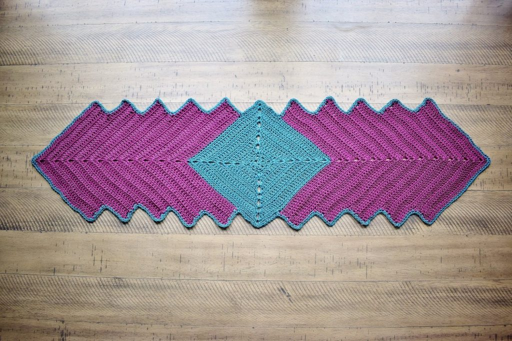 Free Crochet Pattern for a Spring Afternoon Table Runner
