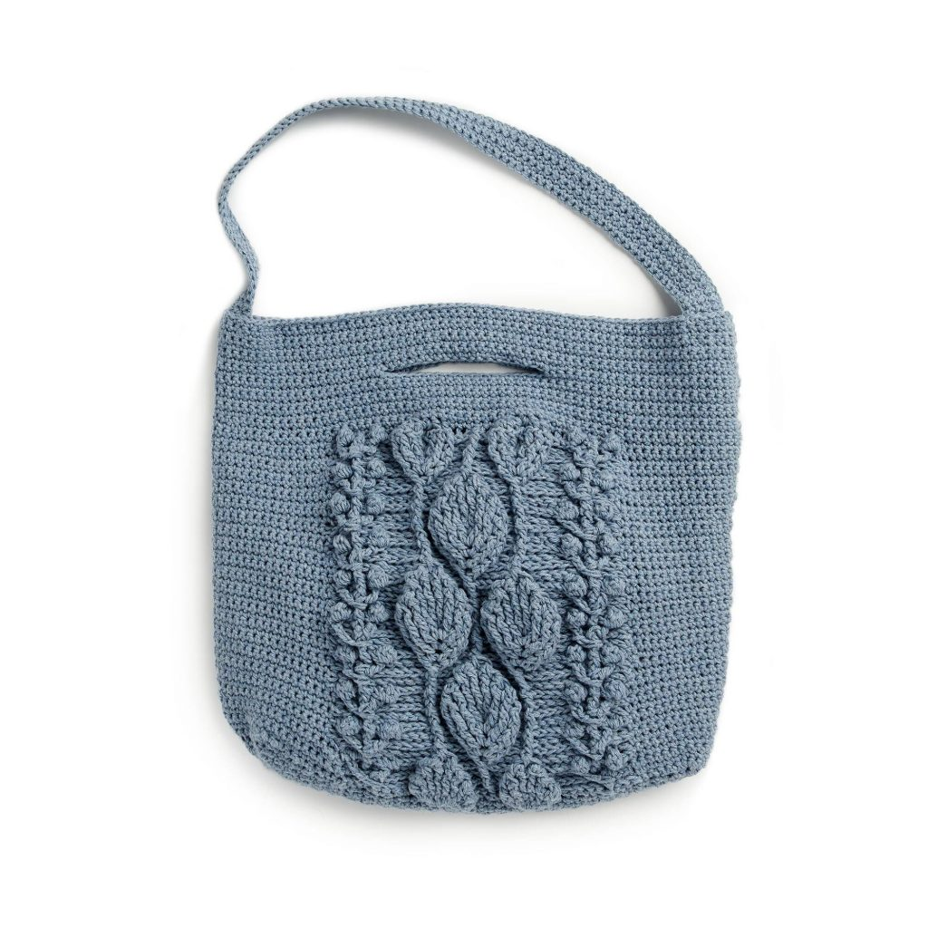 Free Crochet Pattern for a Climbing Leaves Tote Bag