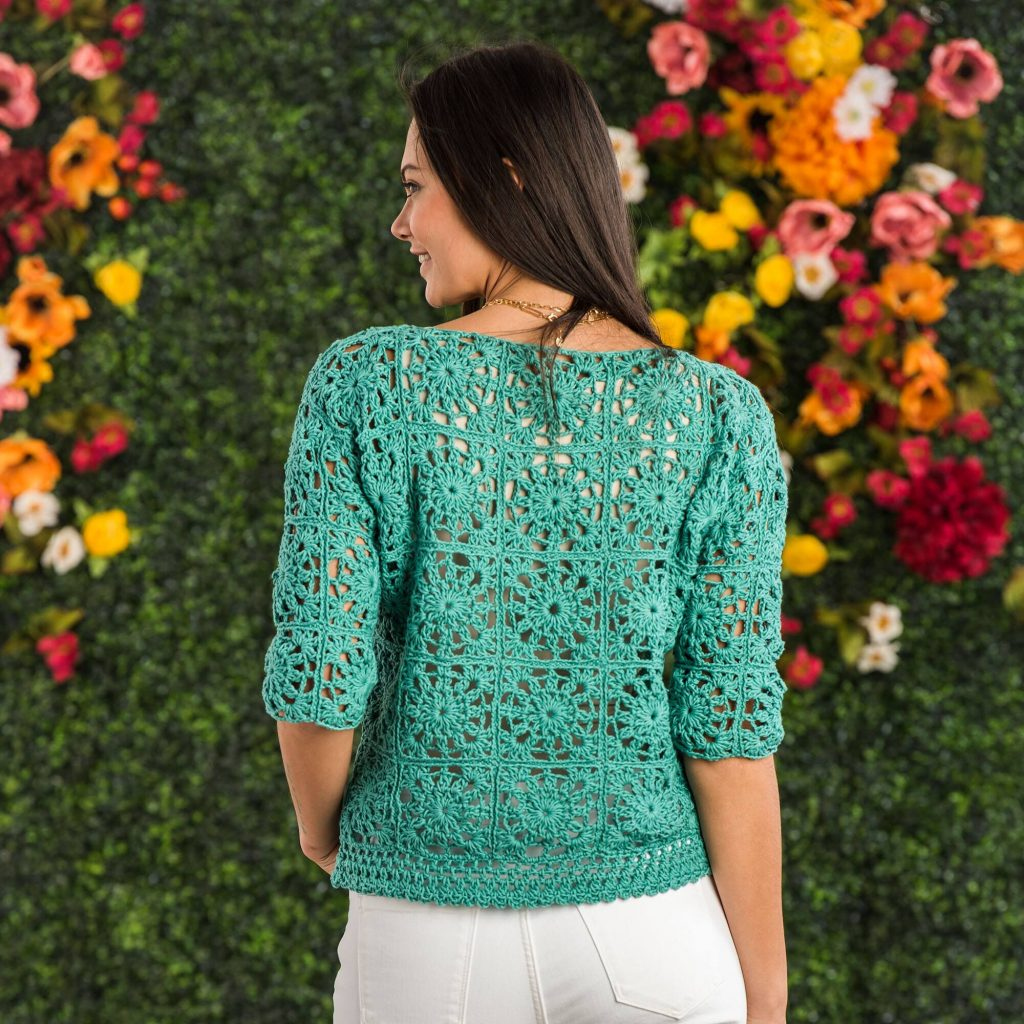 Free Crochet Pattern for a Lacy Motif Top