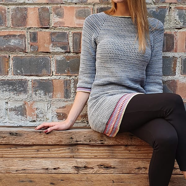 Free-Knitting-Pattern-for-a-Boho-Tunic-for-Women