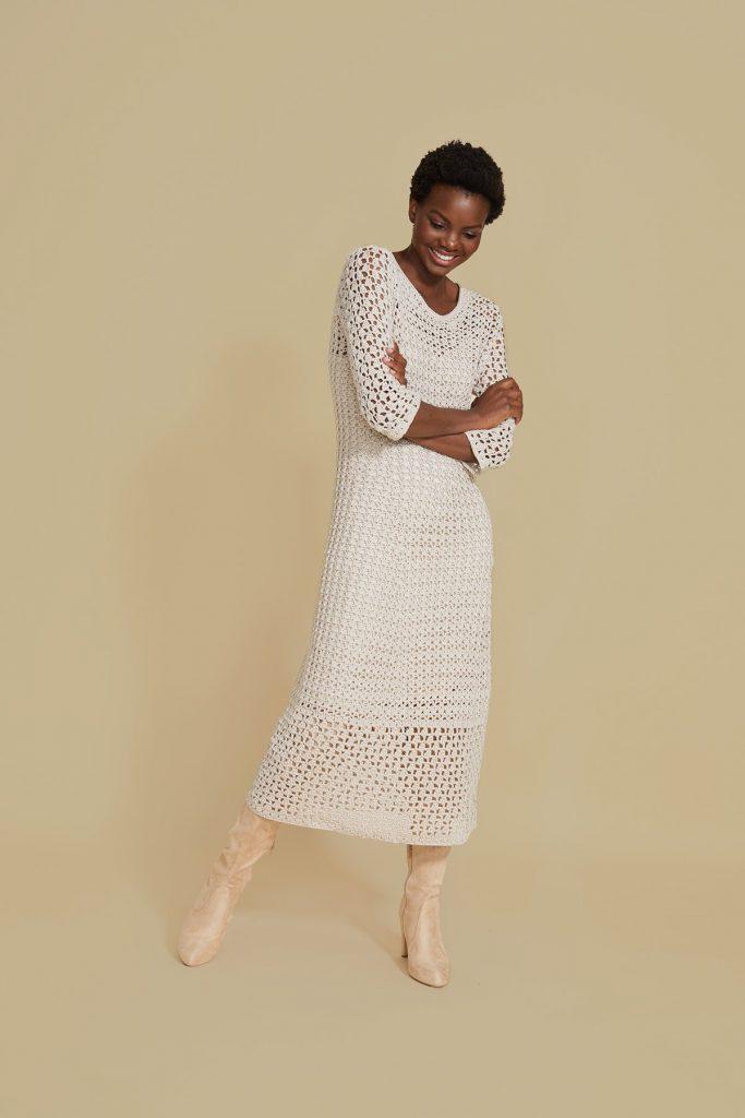 Free long lace crochet dress patterns