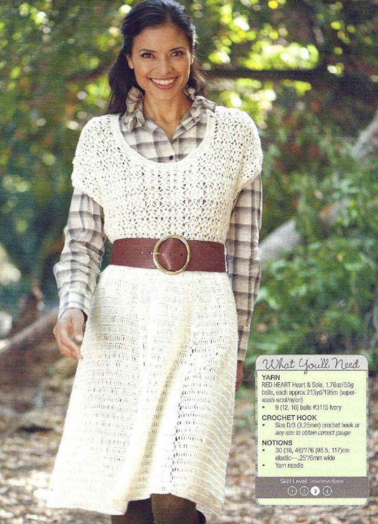 Rancher's daughter crochet dress pattern