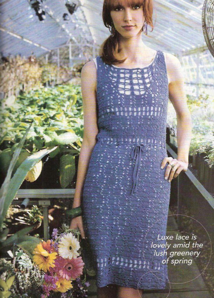 garden party dress free crochet pattern