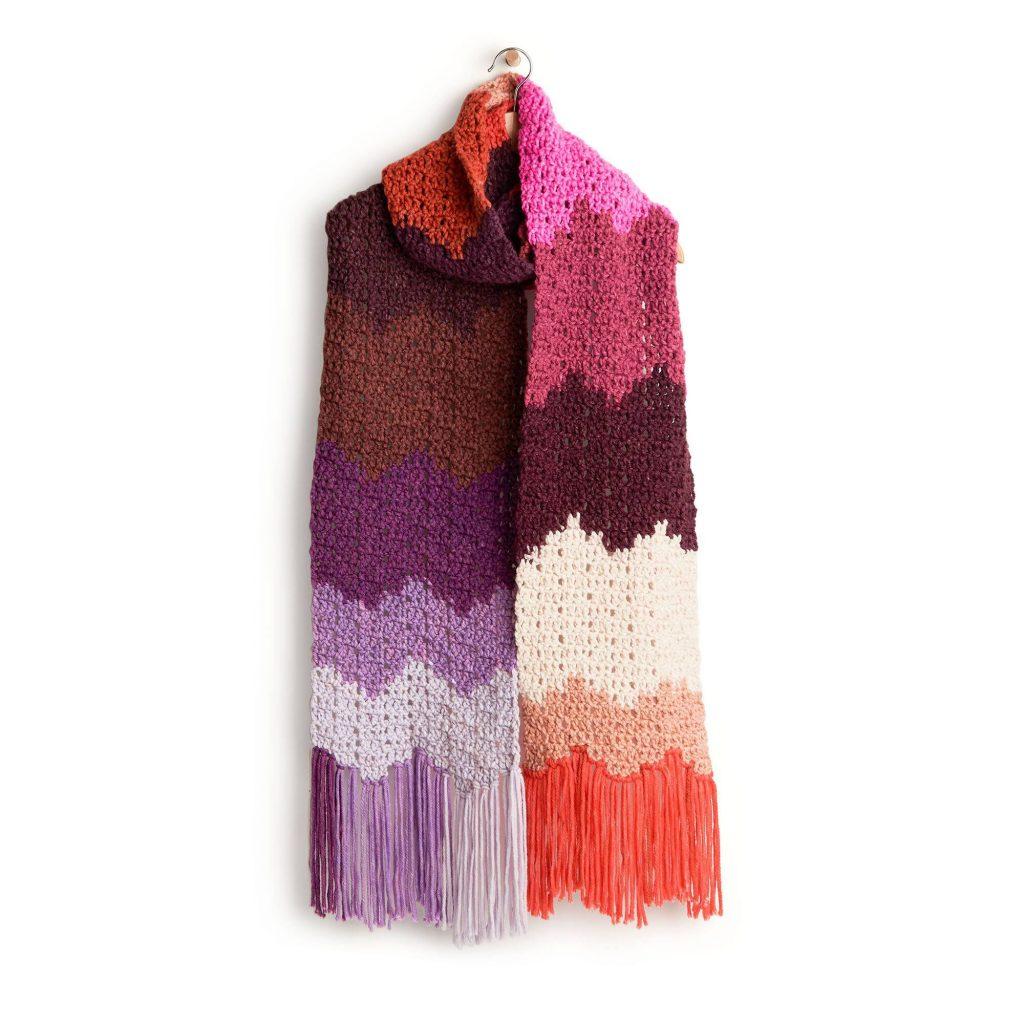 Easy Crochet Chevron Scarf Free Pattern